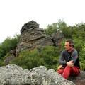 Enjoying the view. - Exploring Chimney Mountain in the Adirondacks