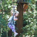 A zipline between redwood platforms on Mount Hermon's Redwood Canopy Adventure Tour.- Destination Santa Cruz: Your Gateway to the Outdoors