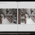 Before and after comparison.- Photographing Snow for White Whites