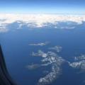 Flying in to the Valdez Ice Festival.- Valdez Ice Festival
