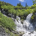 Scout Falls along the Timpooneke Trail at Mount Timpanogos.- Wasatch Waterfalls