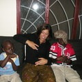 My host family and me at home in Dakar, Senegal.- Woman In The Wild: Claire Smallwood