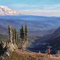Trail running in Goat Rocks Wilderness.- How to Turn Your Hike Into an Outdoor Workout