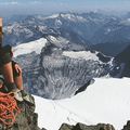 Summit of Mount Shuksan, North Cascades. Photo by Todd Bradley.- Woman In The Wild: Emily Mannisto