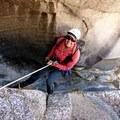 Rappelling Willow Canyon. Photo by Russell James Newberg.- Woman In The Wild: Sirena Rana Dufault