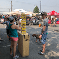 A game of giant Jenga at the 2018 Outdoor Project Salt Lake City Block Party.- 2018 OUTDOOR PROJECT SALT LAKE CITY BLOCK PARTY RECAP