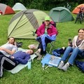Some of Sarah's family at a bike camping festival.- Woman In The Wild: Sarah Connette