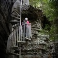 One of the unique features that you'll find along the trails in the South Cumberland State Park is this fun spiral staircase.- Hidden Gems in Tennessee's Beautiful State Parks