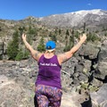 Fat Girls Hiking founder, Summer, at Mount St. Helens. Photo courtesy of Fat Girls Hiking.- Woman In the Wild: Summer of Fat Girls Hiking