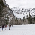 Hiking Stewart Falls in the winter.- Adventuretown: Sundance, Utah
