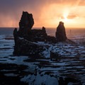 Sunset at Londrangar, Wast Snaefellsnes.- Off the Beaten Path: A Quick Road Trip to Snæfellsnes, Iceland