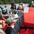 Campers boarding a ferry across the Salmon River, the site's only public access point.- OutdoorProject.org Partners with Westwind Stewardship Group