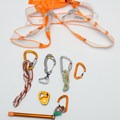 Crevasse rescue kit with the Altitude harness. These are generally the pure basics I take with me. - Gear Review: Petzl Altitude Harness