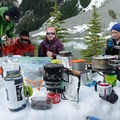 Side by side comparisons at a BC Mountaineering Club Course - Gear Review: Jetboil MiniMo