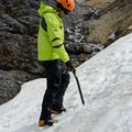 The terrific  hand hold of this tool can be seen in this photo.  - Gear Review: Petzl Summit Ice Axe