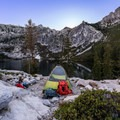 Camp set up in the Trinity Alps.   - Backpacking Essentials For Beginners