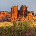 Wingate Formation at Arches National Park.- History in Stone: Basic Geology of the Colorado Plateau