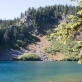 Blue Lake.- Fall Color in Indian Heaven Wilderness, WA