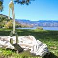 A locking carabiner connects the Treepod Cabana to a rope.- Gear Review: Treepod 6-foot Cabana