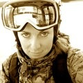 In the Jackson Hole tram.- Woman In The Wild: Steph Jagger