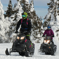 The snow-packed trails and scenic views in West Yellowstone make it the perfect winter destination for snowmobilers. Photo courtesy of West Yellowstone.- 3-Day Winter Adventure Itinerary for West Yellowstone