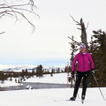 Enjoy ski trails in Yellowstone National Park. Pictured here are skiers on the Riverside Trail just east of the town of West Yellowstone. Photo courtesy of West Yellowstone.- 3-Day Winter Adventure Itinerary for West Yellowstone
