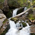 Unnamed falls near the base of the Red Pine Lake Trail in Little Cottonwood Canyon.- Wasatch Waterfalls