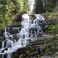Secret Falls near the Red Pine/White Pine Split up Little Cottonwood Canyon.- Wasatch Waterfalls