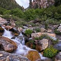 Using HDR can give you the colors at sunset as well as the flowing water.- How to Photograph Waterfalls