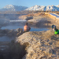 Soaking in a pool at Wild Willy's Hot Springs.- 7 Great Reasons to Go Outside in the Fall, Part 6: Hot Springs
