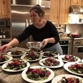 Whipping up some beet salads at the Wildcat Chalet where I worked from 2008 through 2018 in Alta. Photo by Allen Krughoff.- Woman In The Wild: Claire Smallwood