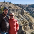 Rick and Cheryl at the Yellowstone Canyon.- Wolf Tracking in Yellowstone National Park