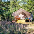 Camping isn't always easy, but glamping at Ardor Wood Farm sure is! Consider this your perfect Memorial Day getaway from Austin. Photo by Chris Wiley via Hipcamp.- Your Guide to Last-Minute Camping