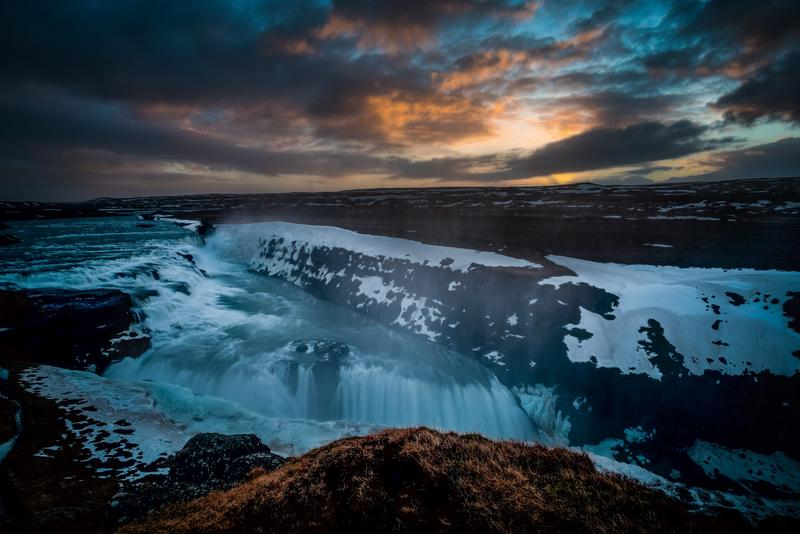 Gulfoss at sunrise